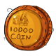 Ten Thousand Dukka Coin Plushie
