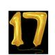 Yellow 17th Birthday Balloon