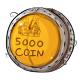 Five Thousand Dukka Coin Plushie
