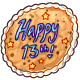13th Birthday Cookie