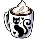 Black Cat Hot Chocolate