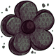 Black Flower Pinata