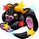 Enchanted Black Daisy Plushie