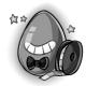 Cartoon Glowing Egg
