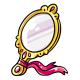 Gold Hand Mirror
