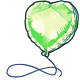 Green Foil Balloon