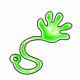 Green Jelly Sticky Hand