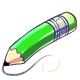 Green Jumbo Pencil