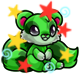 Enchanted Green Snookle Plushie