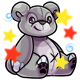 Enchanted Grey Feliz Plushie