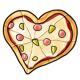 Heart Shaped Hawaiian Pizza