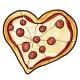 Heart Shaped Pepperoni Pizza