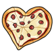 Heart Shaped Sausage Pizza