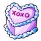 Lavender Heart Cake