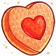 Orange Heart Pinata