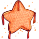 Orange Star Pinata