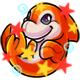 Enchanted Orange Zoosh Plushie