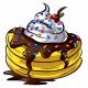 Banana Ice Cream Pancakes