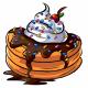 Orange Ice Cream Pancakes