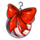 Peppermint Bow Ornament