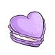 Purple Heart Macaron
