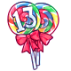 Rainbow 13th Birthday Lollipop