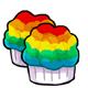 Rainbow Muffin
