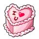 Raspberry Heart Cake