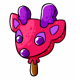 Raspberry Ice Cream Vixen Lolly