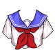 Sailor Crop Top