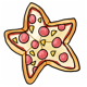Star Shaped Hawaiian Pizza