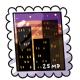 Sunset Skyline Stamp