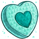 Teal Heart Pinata