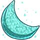 Teal Moon Pinata