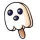 Vanilla Ghost Ice Cream Lolly