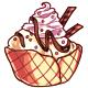 Vanilla Ice Cream Waffle Bowl