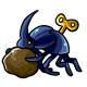 Wind Up Dung Beetle