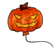 Carved Pumpkin Balloon