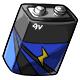 Blue 9V Battery