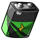 Green 9V Battery