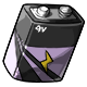 Lilac 9V Battery