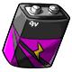 Magenta 9V Battery