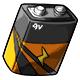 Orange 9V Battery