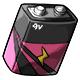 Pink 9V Battery