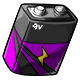 Purple 9V Battery