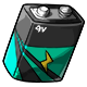Teal 9V Battery