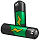 Green AA Battery