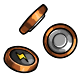 Brown Button Battery