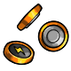 Orange Button Battery