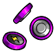 Purple Button Battery